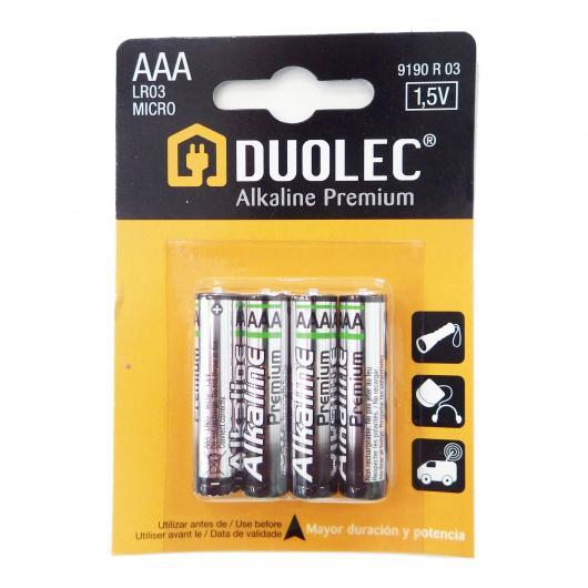 Pila super alcalina 4 unidades AAA LR03 Duolec