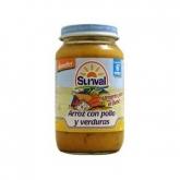 Petit pot riz, poulet et légumes Sunval, 220 g