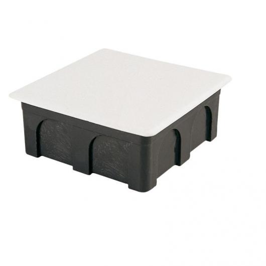 Scatola di giunzione quadrata con coperchio di metallo 100x100x45 mm Famatel