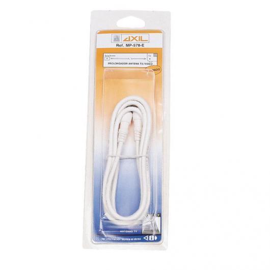 Prolongación de cable coaxial para antena TV 5 m Blanco Axil