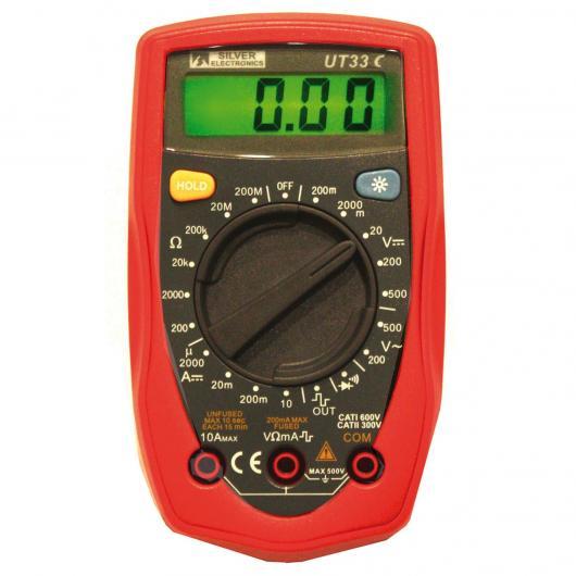 Multimètre numérique UT-33C Silver Electronics
