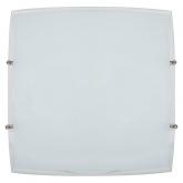 Lampada soffitto quadrata supporto laterale Monaco da 30x30 cm 2x20W E27 Duolec