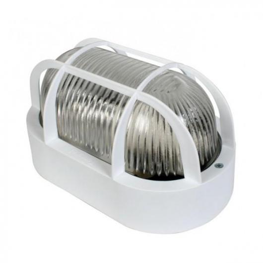 Applique extérieure ovale max 60 W Duolec blanc