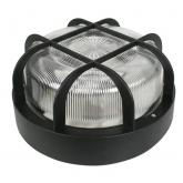 Applique extérieure ronde avec isolation max 100 W Duolec noir