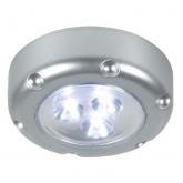 Ponto de luz LED portátil cinza prata Duolec