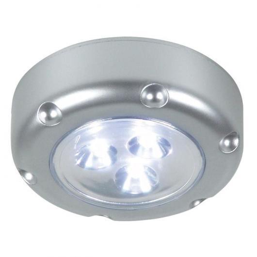 Spot LED portable Duolec gris argent