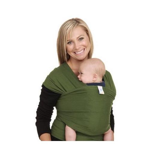Porte-bébé élastique Moby Wrap vert foncé