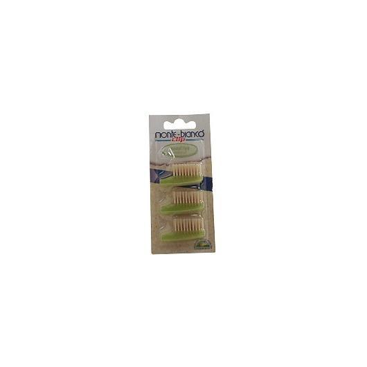 Brosse de rechange pour adultes en fibres naturelles Monte-bianco