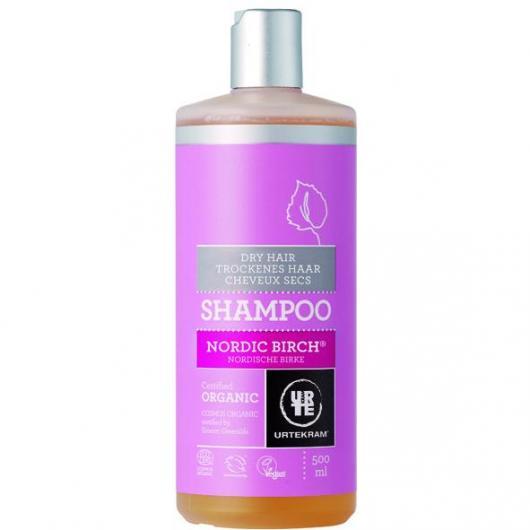 Shampooing au bouleau nordique pour cheveux secs Urtekram, 500 ml