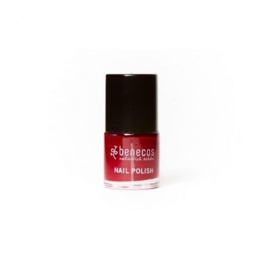 Smalto unghie Rosso Ciliegia Benecos, 9ml
