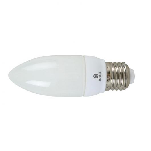 Bombilla de ahorro mini vela 9W E14 6400K Duolec