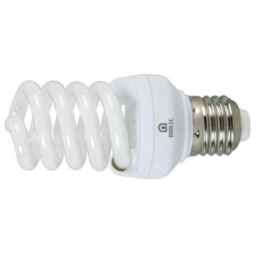 Ampoule spirale mini à économie d'énergie 15 W E27 6400K Duolec