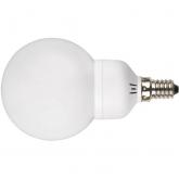 Ampoule globe mini à économie d'énergie 9 W E14 2700K Duolec