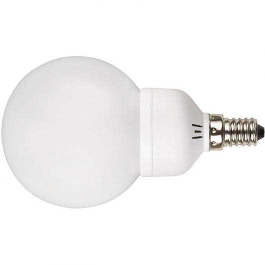 Lampadina a basso consumo mini globo 9W E14 2700K Duolec