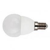 Lampadina LED mini globo 4W E27 Bianca calda
