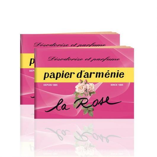 Papier d'Arménie rose, 12 feuilles