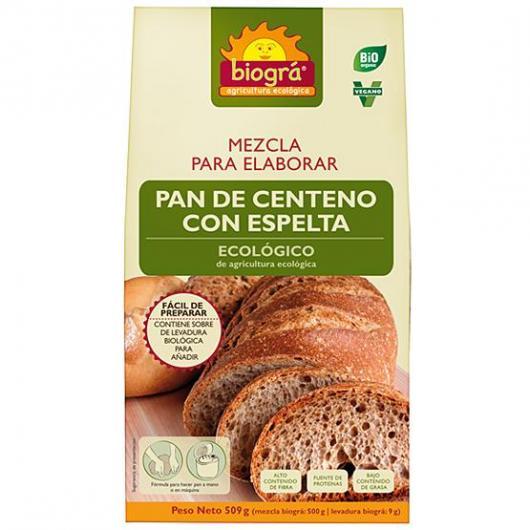 Mix per preparare Pane di Segale con Farro Biográ, 509g