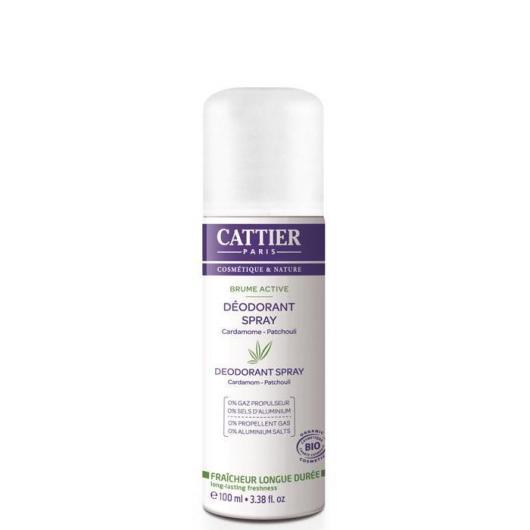 Desodorante sin alcohol Brume Active Cattier, 100 ml