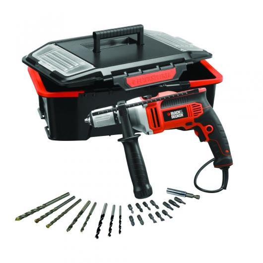 Taladro percutor 750 w con caja de herramientas y 21 - Accesorios para taladro ...