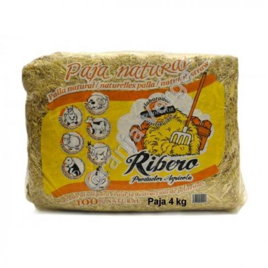 Paja natural de cereales para animales domésticos Ribero, 4 kg