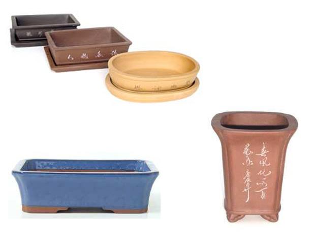 ceramicas y macetas para el bonsai